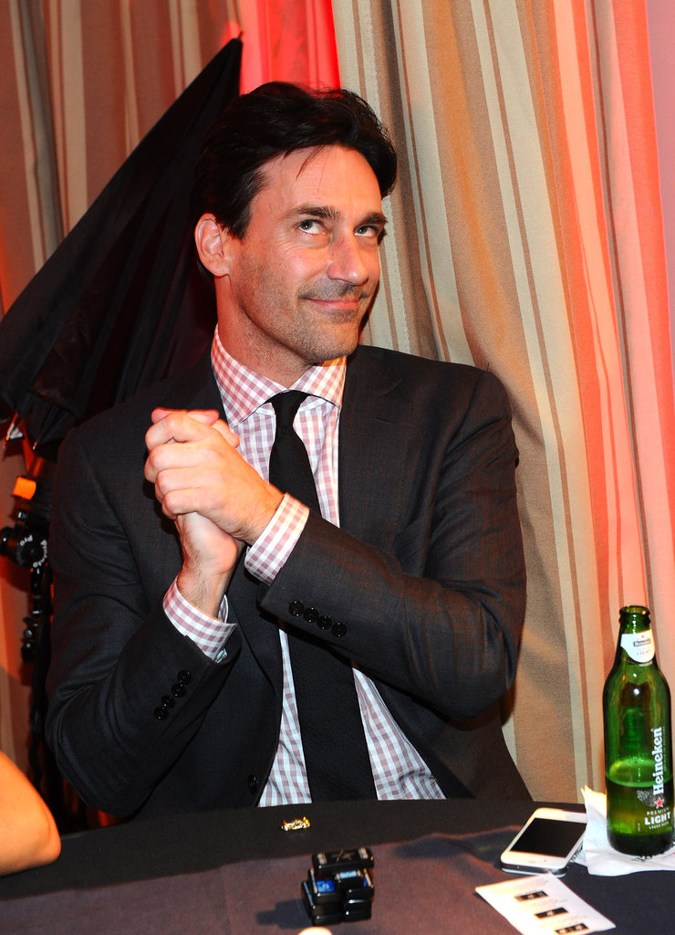 Jon Hamm was happy with his winnings.