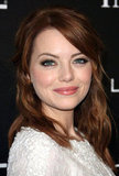 Emma Stone wore white to the Essence luncheon.
