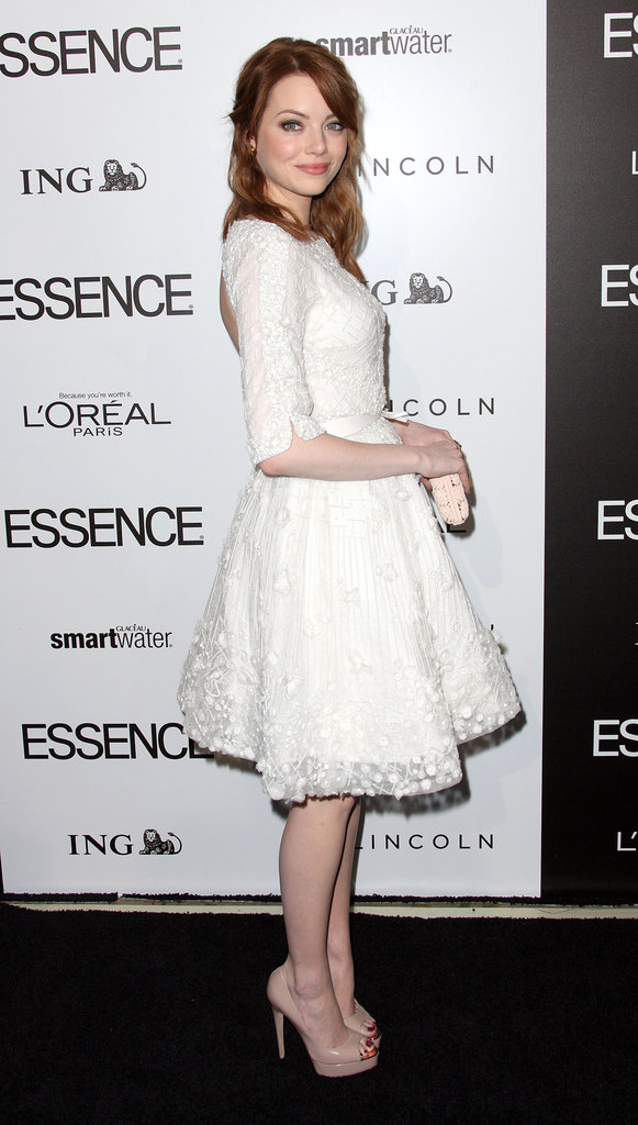 Emma Stone at the Essence luncheon.