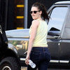 Kristen Stewart in Yellow Tank Top in LA Pictures