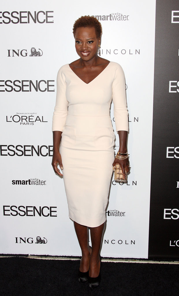 Viola Davis in Victoria Beckham at the Essence luncheon.