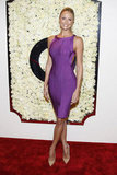 Stacy Keibler posed in purple at a QVC party.