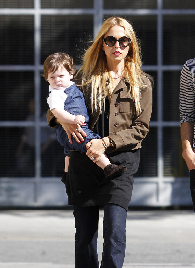Rachel Zoe with Skyler in LA.