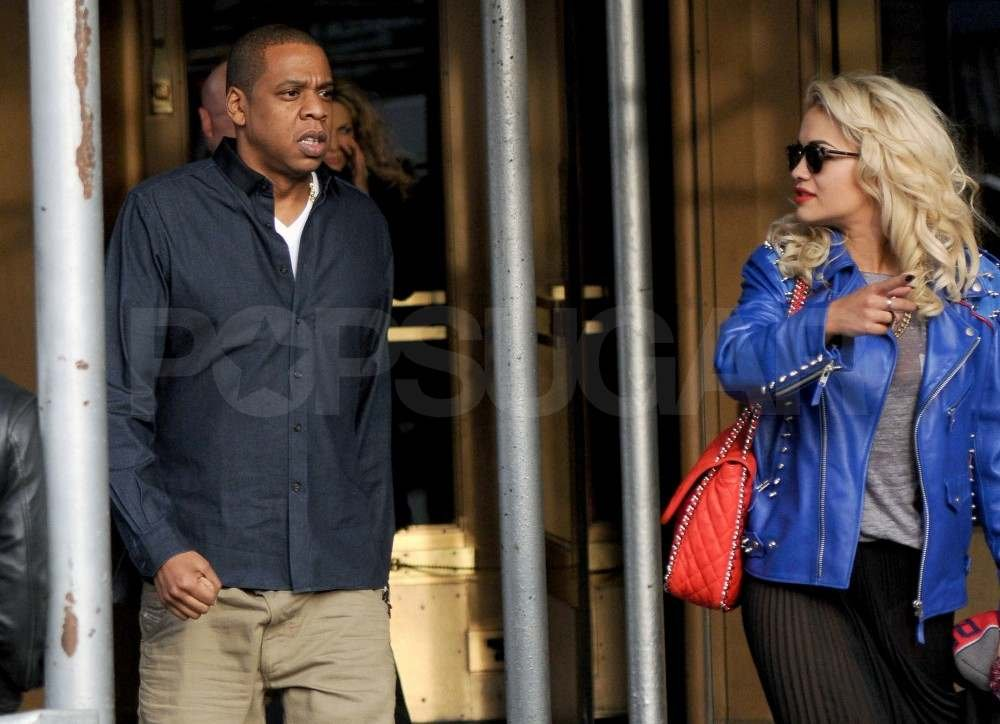 Jay-Z with singer Rita Ora.