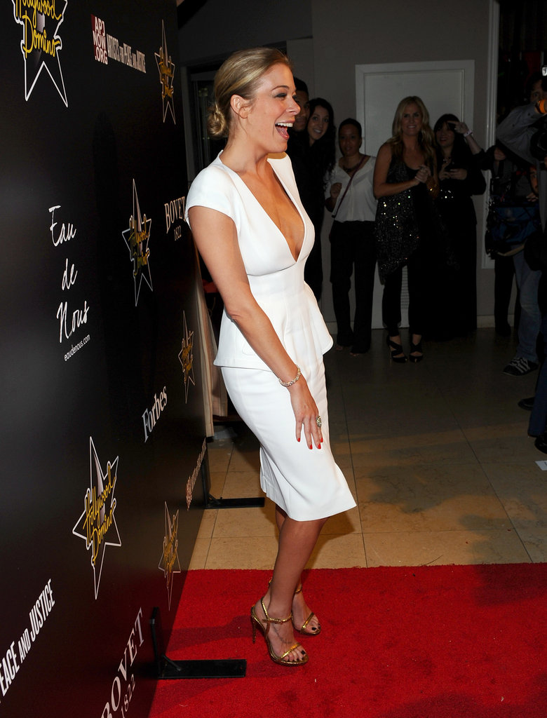 LeAnn Rimes wore Tom Ford to a Hollywood Dominoes event.