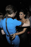 Eva Longoria and Victoria Beckham caught up at Beso.