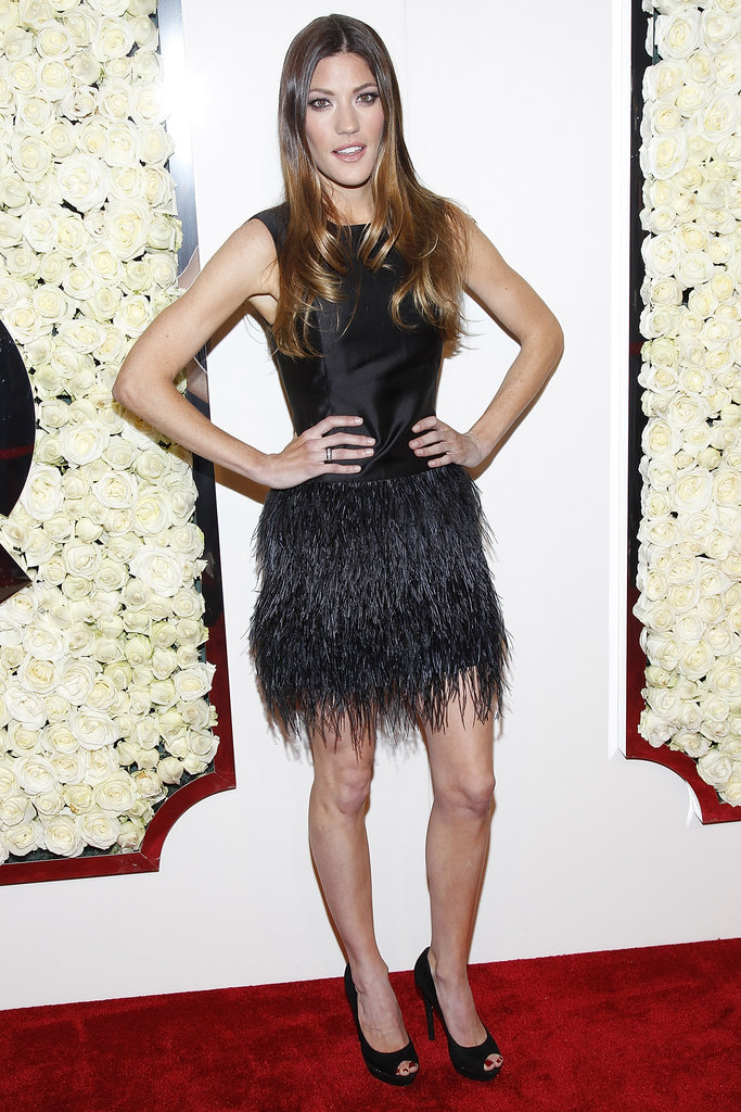 Jennifer Carpenter attended QVC's Buzz on the Red Carpet party and broadcast at the Beverly Hills Four Seasons Hotel.