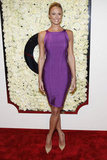 Stacy Keibler paired a fitted purple dress with nude pumps at QVC's Buzz on the Red Carpet party. We love the sporty spin on this look; here are more ways to integrate the trend into your Spring wardrobe.