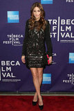 A hot embellished LBD at the Tribeca Film Festival in 2010.