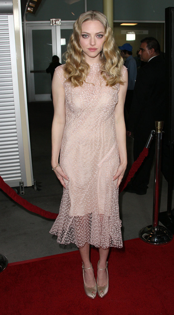 Amanda Seyfried chose a flirty Nina Ricci confection for LA's Gone premiere.