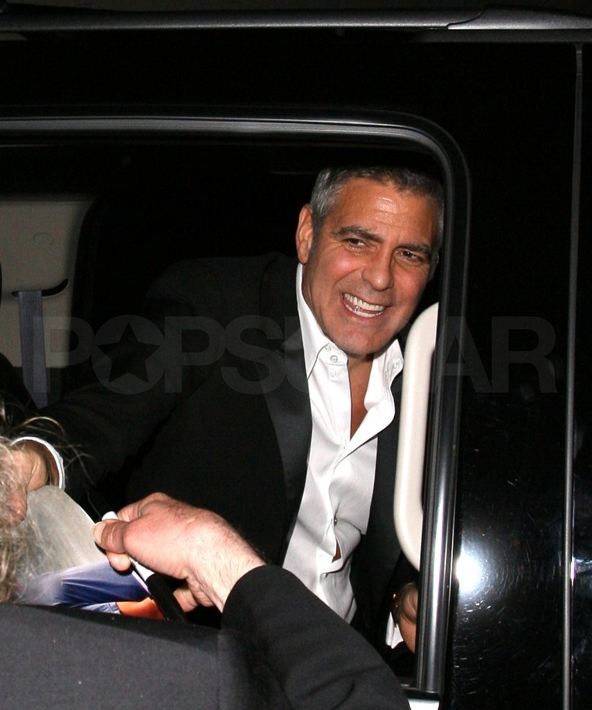 George Clooney headed home after an Oscars bash.