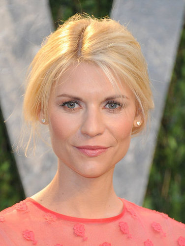 Claire Danes up close at the Vanity Fair party.