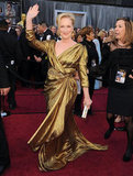 Meryl Streep won a best actress statue for The Iron Lady, but she was a golden girl herself in Lanvin.