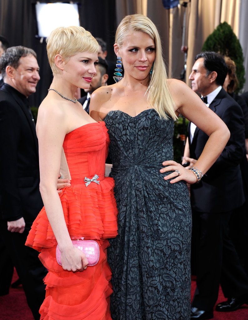 Michelle Williams struck a pose with her friend Busy Philipps.