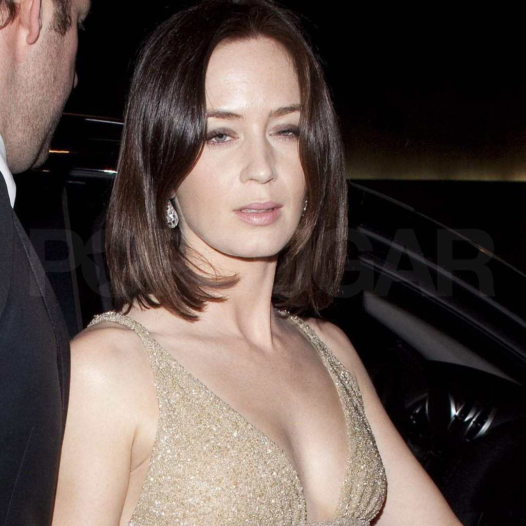 Emily Blunt partied after the 2012 Oscars.