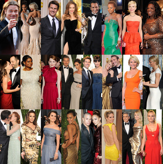 Pictures of Celebrities at the 2012 Oscars Red Carpet, After Party, Press Room: Angelina Jolie, Brad Pitt, Miley Cyrus &amp; More