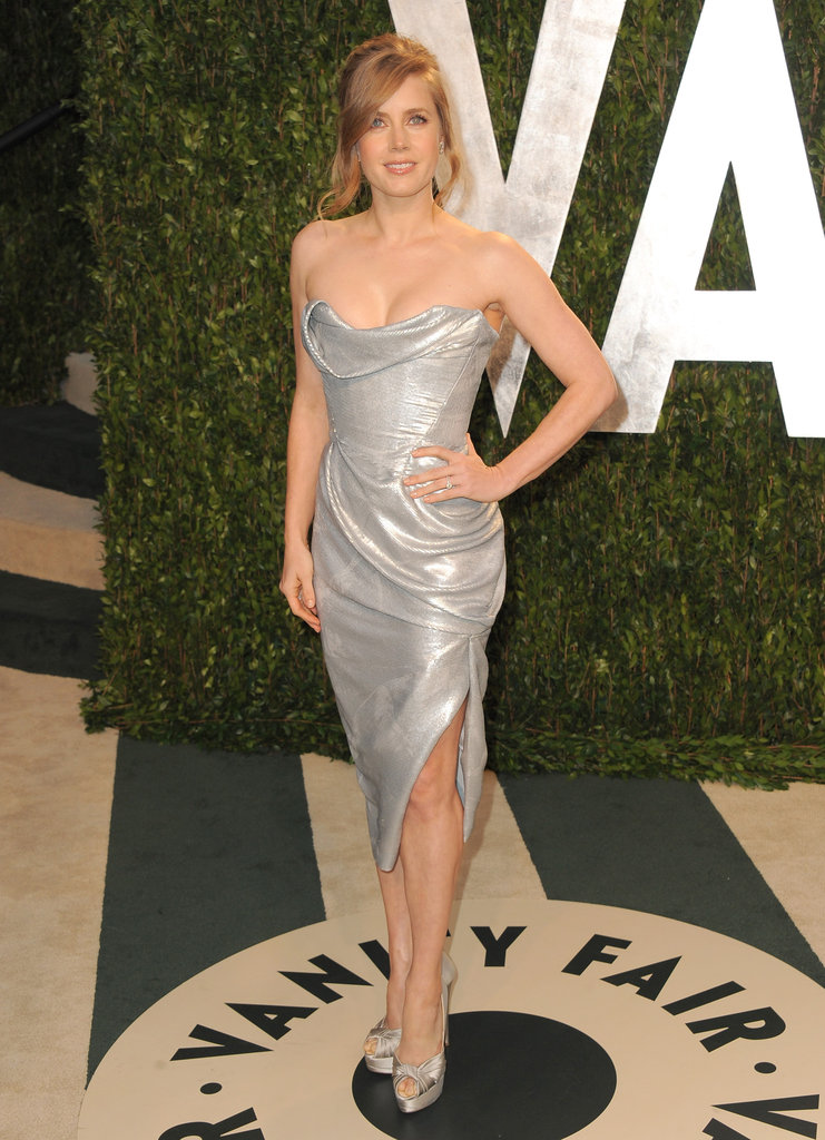 Amy Adams in Vivienne Westwood at the Vanity Fair afterparty.
