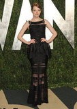 Emma Stone's Chanel Haute Couture creation feels ultraluxe and sexy, thanks to a sheer skirt and sheer detailing throughout.