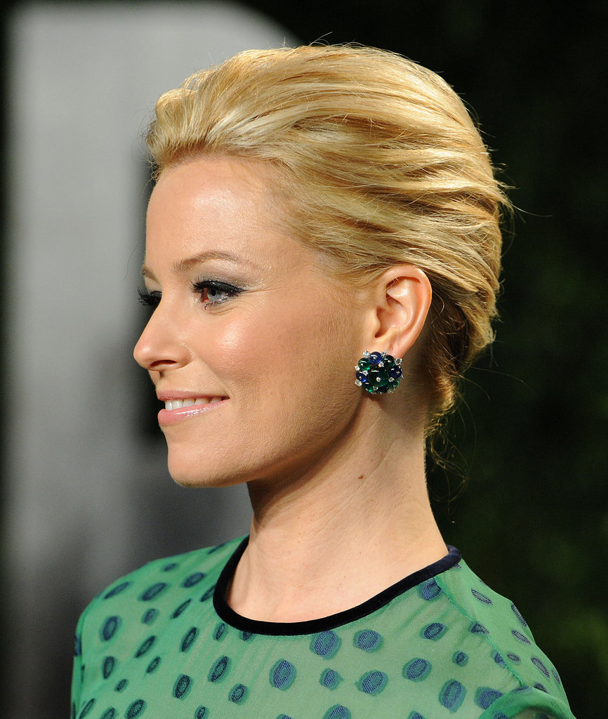 Jeweled studs like Elizabeth Banks's were all over the Spring '12 runways; channel the same ladylike glamour with a pair of your own.  4801622