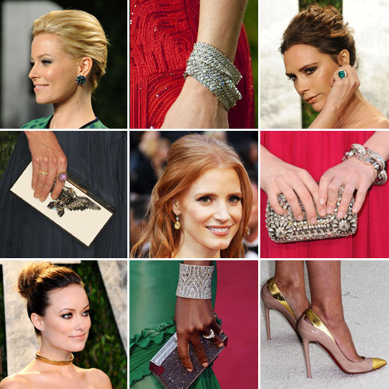 See All the Glittering Details! The Oscars' Best Bags, Baubles, and Heels