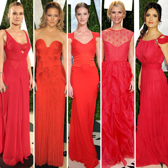 Vanity Fair Party Fashion: Red Dresses