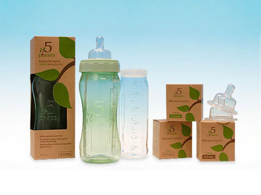 5 Phases Hybrid Glass Baby Bottles