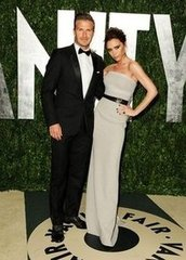 David and Victoria Beckham(2012 Vanity Fair Oscar Party)