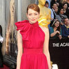 Emma Stone Red Giambattista Valli Dress Pictures at 2012 Oscars