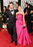 Natalie Portman and Benjamin Millepied attended the 2012 Golden Globes together.