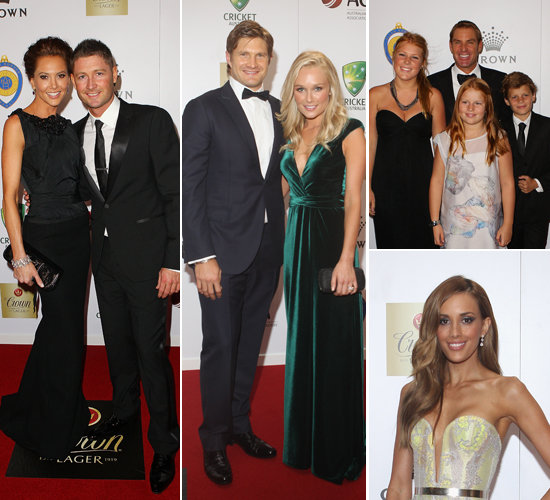 Cricket Stars and WAGS Hit the Red Carpet at the Allan Border Medal