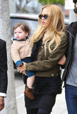 Rachel Zoe walked down Robertson Boulevard with Skyler Berman.