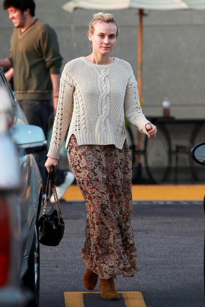 Diane Kruger shopped for food in LA.