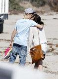 Selena Gomez and Justin Bieber kissed in Malibu during a 2011 beach walk.