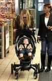 Rachel Zoe peeked at her son Skyler Berman.