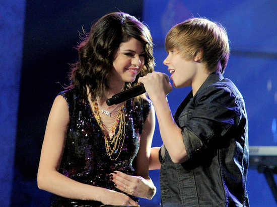 Selena Gomez and Justin Bieber shared the stage during Dick Clark's 2010 New Year's Rockin' Eve in Las Vegas.