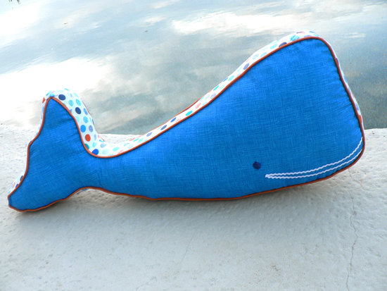 Organic Cotton Whale Pillow ($55)