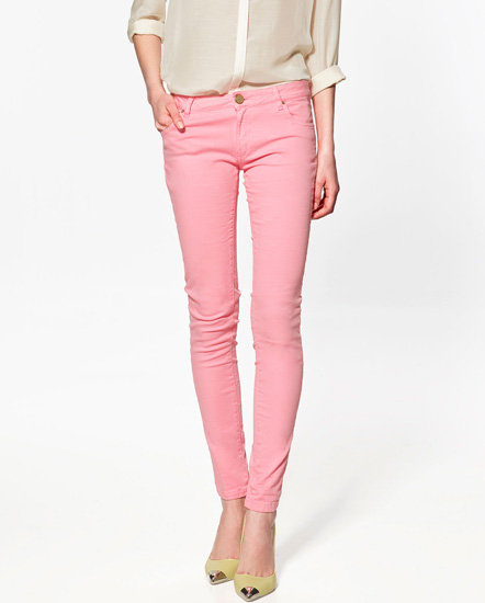 Coloured Denim Skinnies from Zara