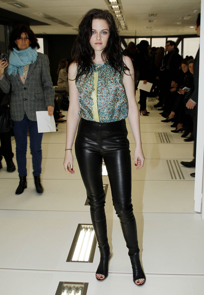 Kristen Stewart, the face of Balenciaga's latest fragrance, made an appearance at the fashion house's Fall 2012 presentation.
