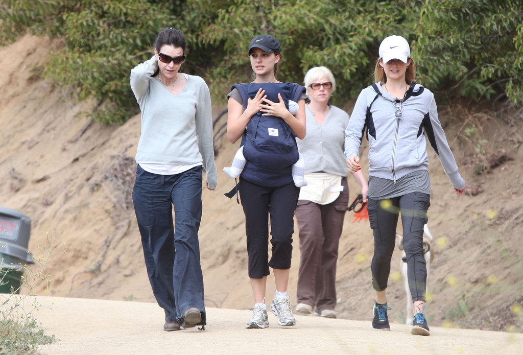 Aleph Millepied joined his mom Natalie Portman for a friendly hike.