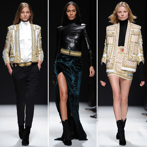 Review and Pictures of Balmain Autumn Winter 2012 Milan Fashion Week Runway Show