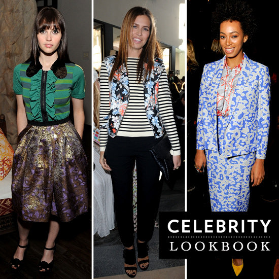 Celebrities Wearing Mixed Prints