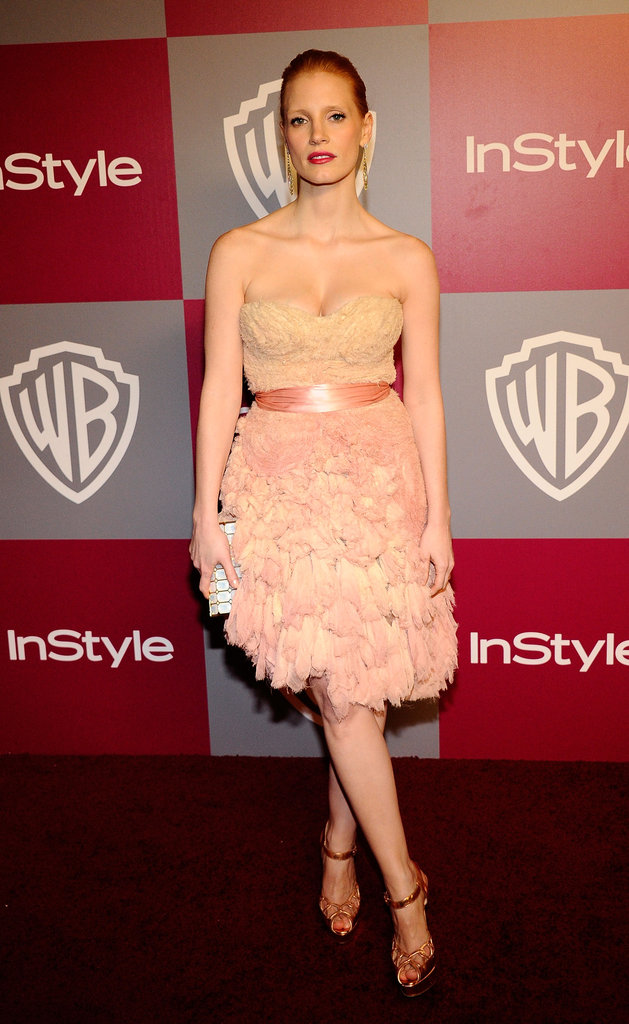 A flirty Ports strapless at the Golden Globes afterparty in January 2011.