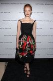 A gorgeous floral-emboldened Zac Posen cocktail frock for the National Board of Reviews Awards Gala.
