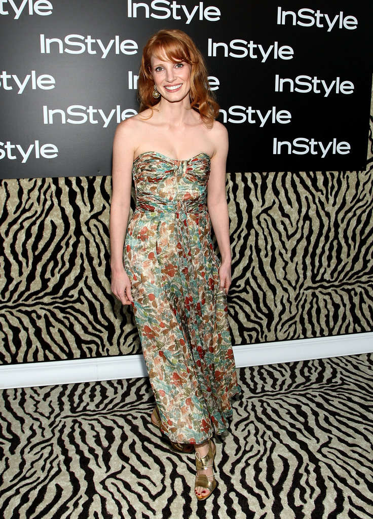Breezy florals for InStyle's Summer soiree in 2009.
