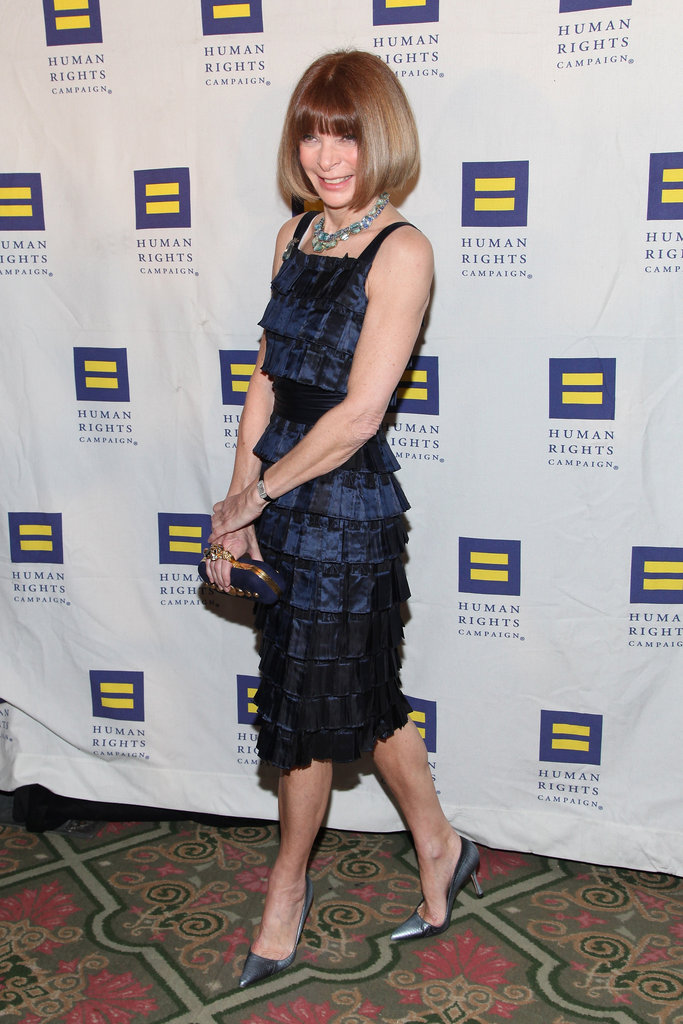 Even Anna Wintour showed off the trend on a pair of pointed-toe pumps.