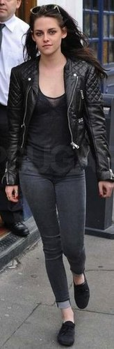 Kristen Stewart Quilted Leather Jacket