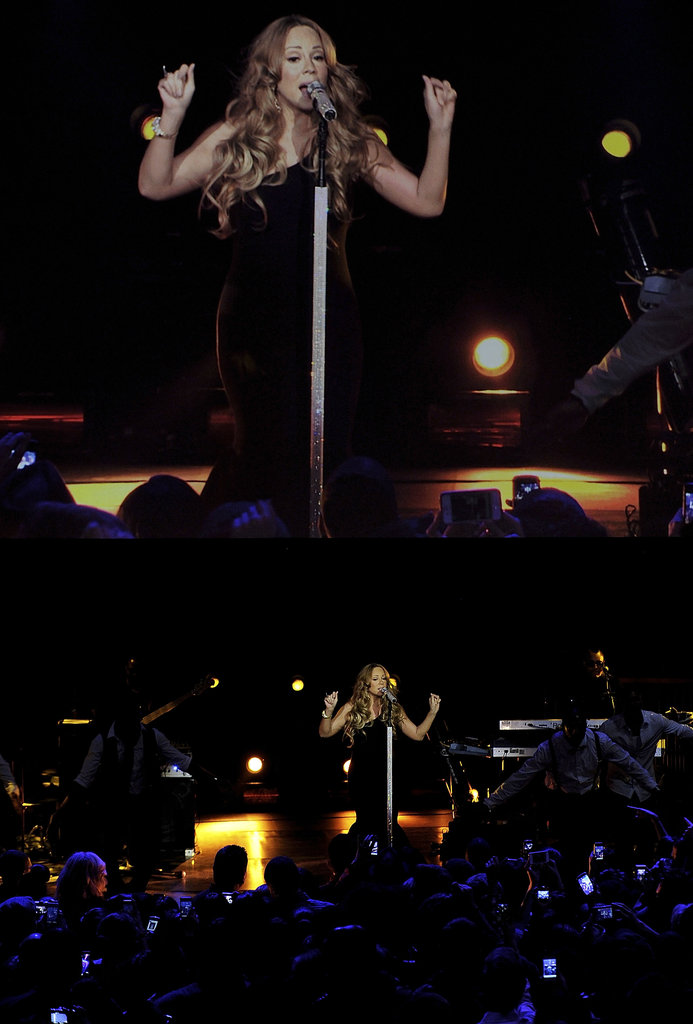 Mariah Carey performed on stage.