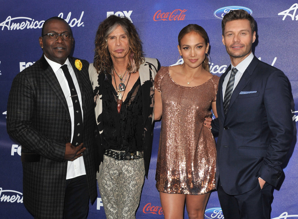 Jennifer Lopez, Randy Jackson, Ryan Seacrest, and Steven Tyler went to The Grove.