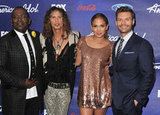 Jennifer Lopez, Randy Jackson, Ryan Seacrest, and Steven Tyler partied for American Idol.