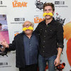 Zac Efron Wearing Yellow Lorax Mustache Pictures